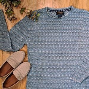 {Woolrich} Blue Stripe Arctic Sweater